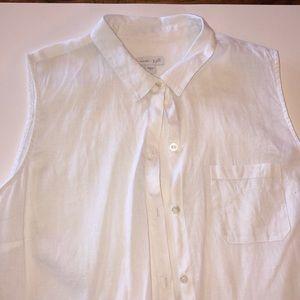 J Jill linen sleeveless button down size L